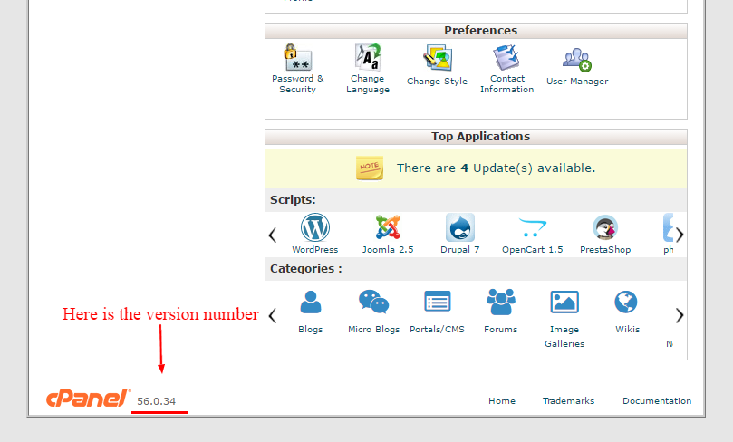 cpanel-version